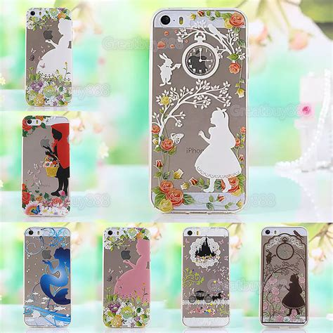 Princess Y1529 Iphone 6 6s princess clear transparent tpu soft back cover for iphone 5s 6 6s 7 8 plus ebay