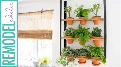 ikea hyllis hack diy indoor herb garden youtube