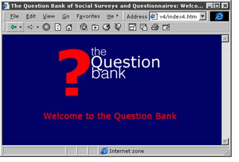 Or Question Bank Planet Sosig Asking Questions The Cass Social Survey Question Bank Ariadne