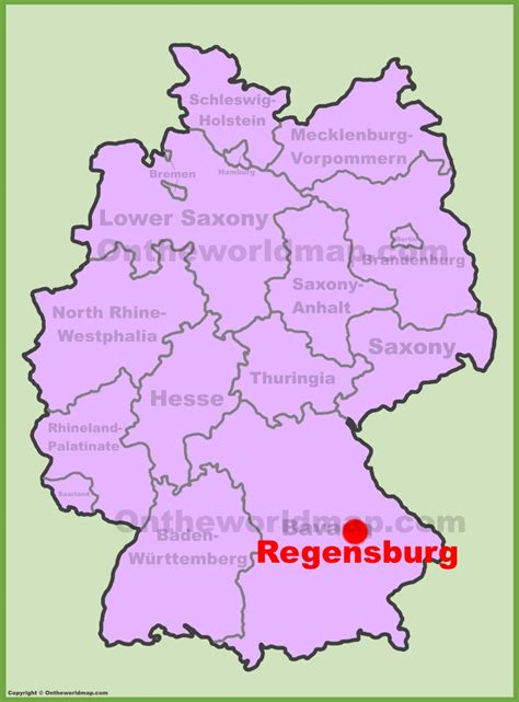 regensburg germany map regensburg location on the germany map