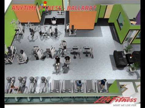 anytime fitness floor plan anytime fitness ballarat 3d layout youtube