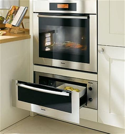 gas wall oven with warming drawer miele esw4820 30 inch warming drawer with dual heating