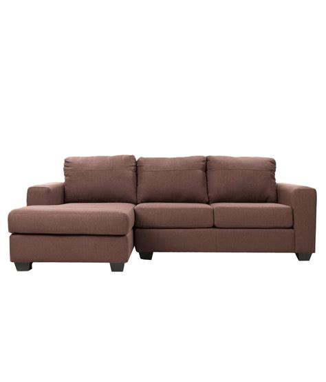 2 seater sofa with chaise clarke premium 2 seater sofa with left side chaise buy