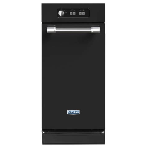 trash compactors for home maytag 15 in built in trash compactor in black