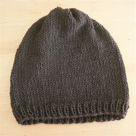 simple pattern for knitted beanie easy knit hat pattern