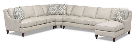 Transitional Sectional Sofa Transitional 4 Sectional With Chaise By Klaussner
