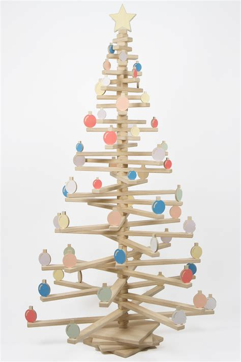 wooden bauble sets one two tree