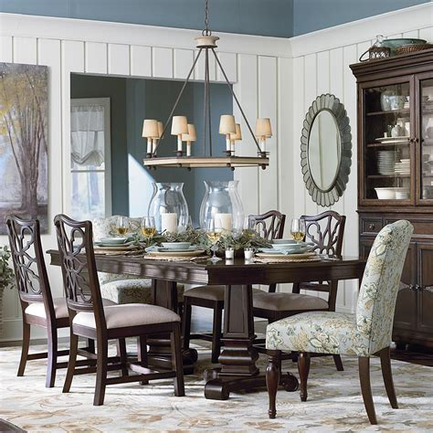 Bassett Furniture Dining Room Sets   Used Bassett Dining Room Set Table Chairs Cabinet Ebay