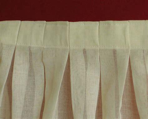 coudre rideaux plis plats