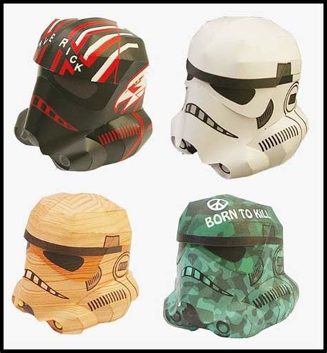 Stormtrooper Papercraft Helmet - wars stormtrooper papercraft helmet paperkraft