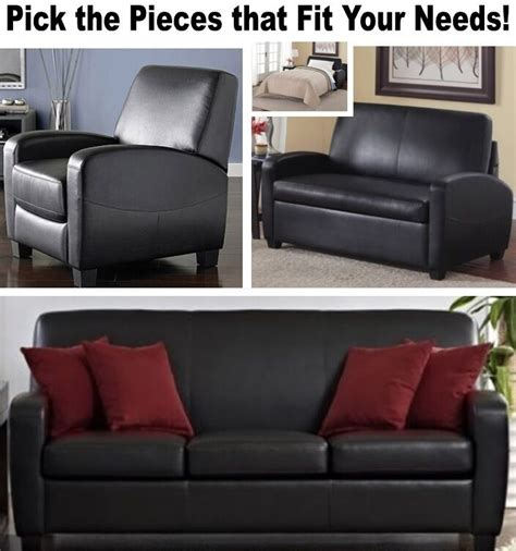 Sofas For Sale Ebay by Black Leather Home Theater Recliner Chair Sleeper Loveseat
