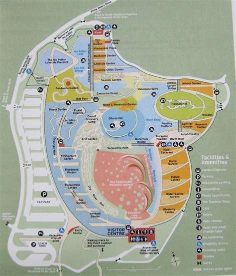 melbourne botanical gardens map royal botanic gardens di melbourne mappa royal botanic