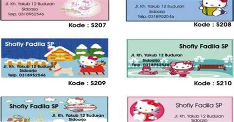 Custom 35 000 Cetak Foto Bebas Dari Katalog 2 hello stiker label nama