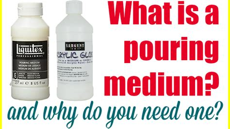 acrylic paint what you need the acrylic pouring medium guide why you need one which