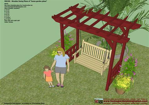 diy garden swing plans home garden plans sw100 arbor swing plans swing