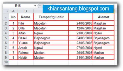 membuat warna border tabel html cara memberi warna garis tabel pada ms excel