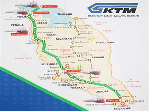 Ktm Malaysia Map Ktm Malaysia To Singapore And Thailand Booking