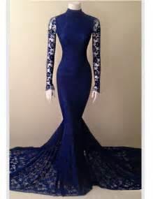 royal blue lace mermaid prom dresses 2017 high quality