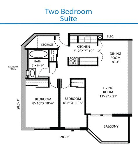 Bedroom Floorplan by Floor Plan Of The Two Bedroom Suite Quinte Living Centre