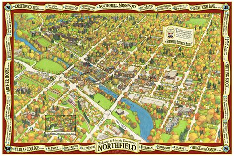birds eye view maps birds eye map of northfield minnesota on behance