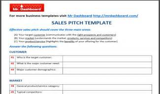 Business Pitch Template by Free Sales Pitch Template Sles And Exles