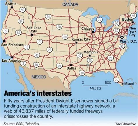 interstate highway map of usa the interstate highway system at 50 america in fast
