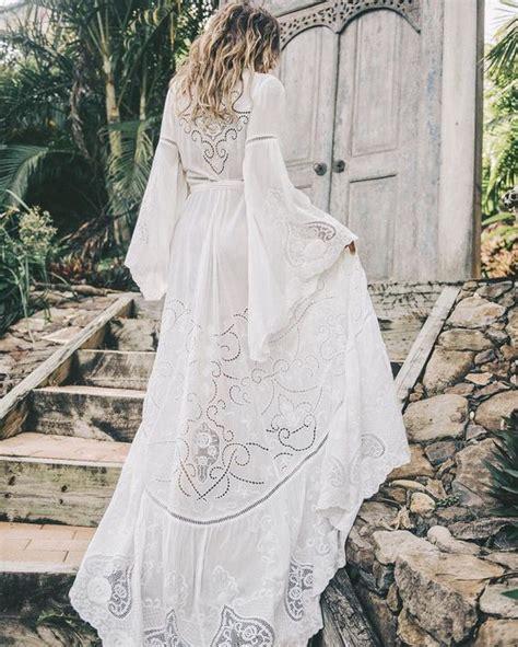 Robe Mariée Manche Longue Boheme - robe longue blanche fluide boheme sur http