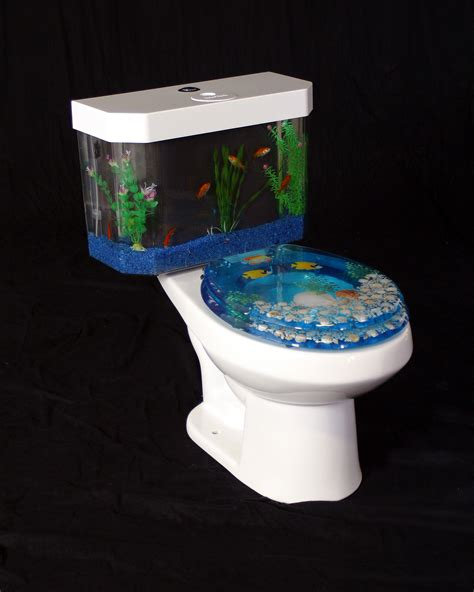 Aquarium Bathroom by Fishnflush Fish N Flush Toilet Tank Aquarium Water Closet