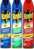 raid insect spray alpha cleaning supplies