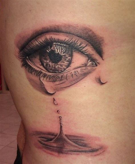 eyeball tattoo pain level a very sad tattoo for sure places to visit pinterest