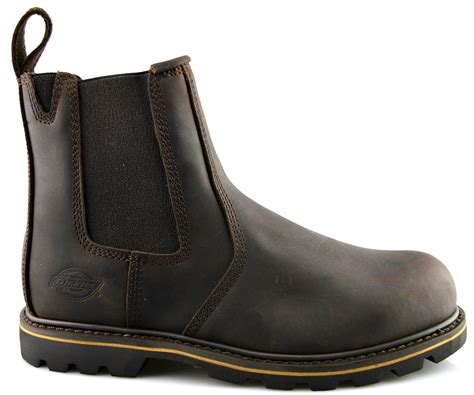 chelsea work boots for mens dickies leather dealer chelsea slip on safety ankle