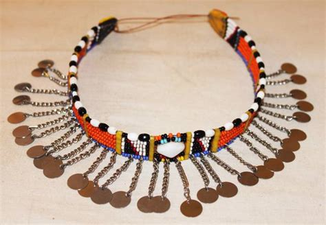 maasai masai beaded ethnic tribal choker necklace