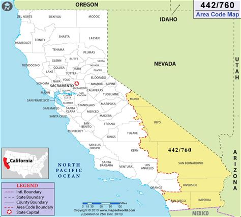 usa map with area codes 760 area code map where is 760 area code in california