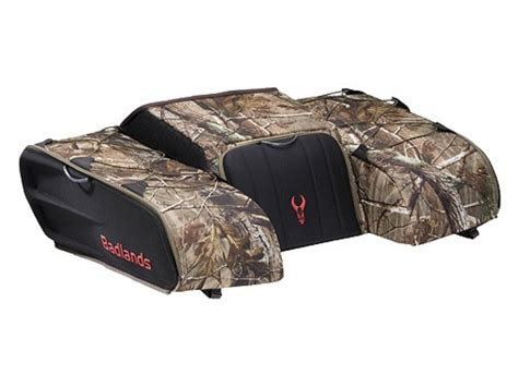badlands atv rear rack bag black realtree ap camo