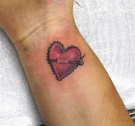 tattoo design heartbeat heart tattoo design on wrist