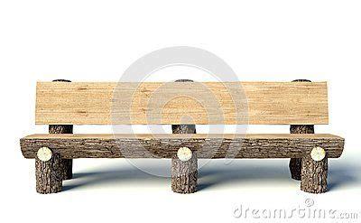 banco de madera hecho de troncos de arbol decoracion san