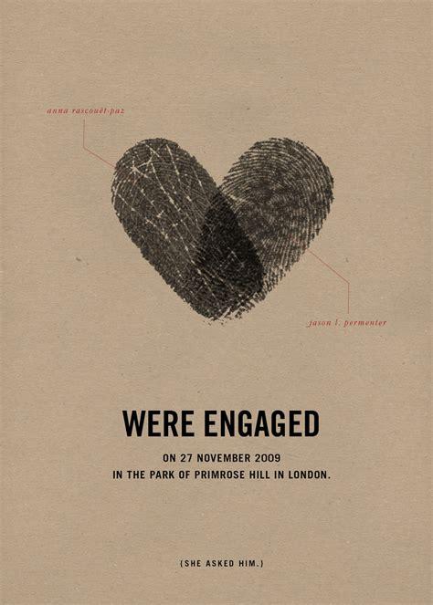 Wedding Announcement Board by Fingerprint Wedding Announcement Modern