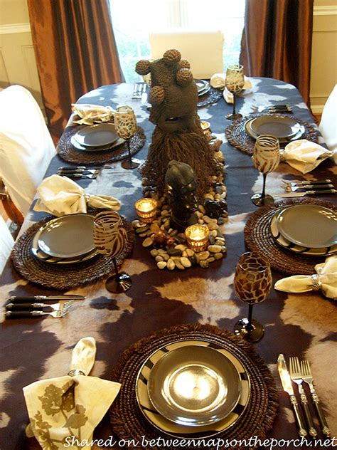 african themed decor an african safari themed table setting tablescape