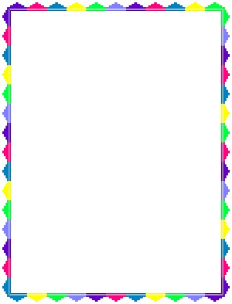 border template rainbow word border templates free
