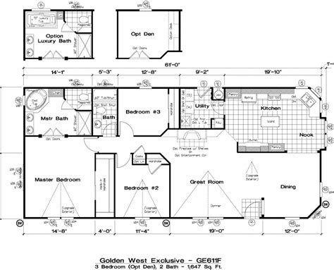 golden west manufactured homes floor plans golden west exclusive floorplans 5starhomes manufactured