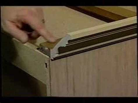 how to install crown molding on kitchen cabinets cabinet crown molding youtube
