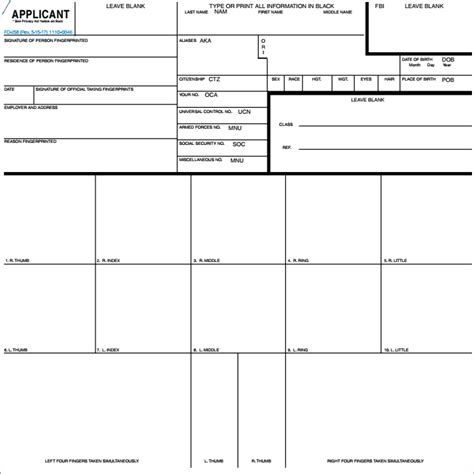 Fingerprint Card Template Pdf by Form Amazing Form A Tax Year With Form Cool Image Of