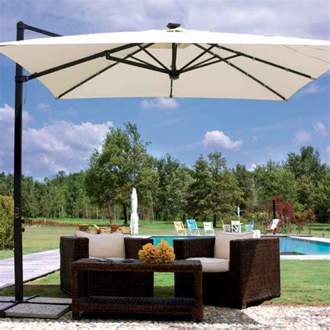 ombrelloni da giardino a braccio ombrellone da giardino con led 3x3 rettrattile telo