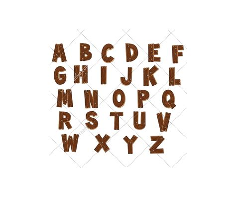 Letter Vector wooden alphabet vector pack royalty free font abc