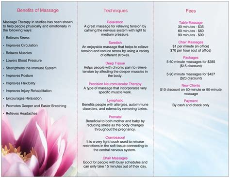 Massage Therapy Flyer