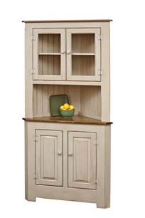 farmhouse pine wood corner hutch dutchcrafters amish furniture