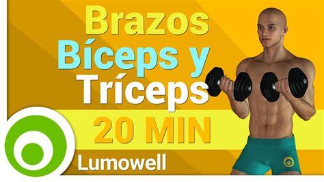 ejercicios mancuernas en casa ejercicios para brazos en casa b 237 ceps y tr 237 ceps con