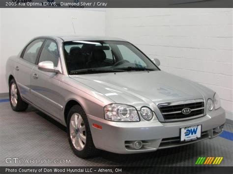 2005 Kia Optima Ex V6 Silver 2005 Kia Optima Ex V6 Gray Interior