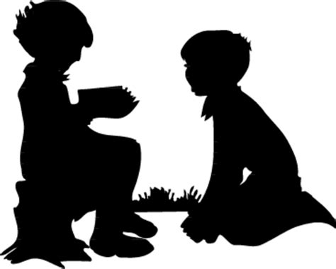 free clipart silhouette children silhouette clip free images at clker