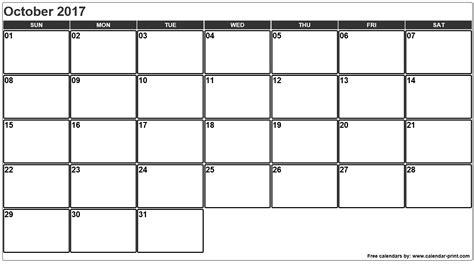 Calendar 2017 October November October 2017 Calendar